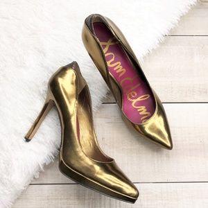 SAM EDELMAN Gold High Heel Stiletto Pumps Size 8.5